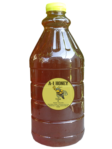 2 Liter Raw Fynbos Natural Cape Honey For Sale in South Africa - Plastic Bottled - A-1 Honey