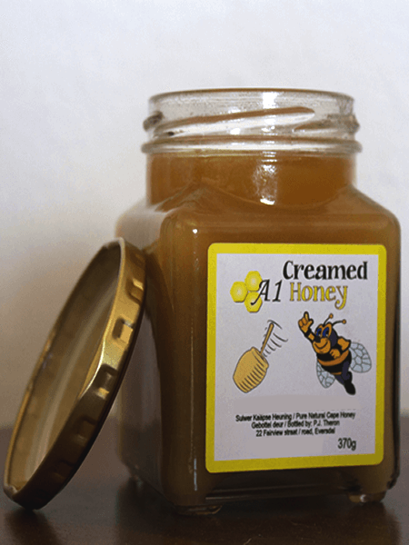 Buy 370 Gram Raw Creamed Honey in the Western Cape - A-1 Honey