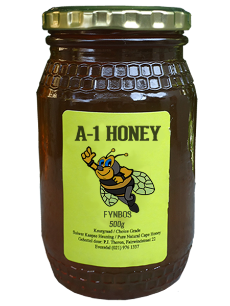 500 Gram Raw Fynbos Natural Cape Honey For Sale in South Africa - A-1 Honey