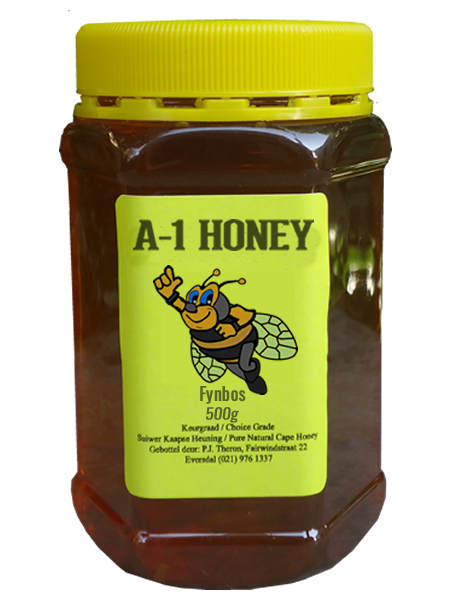 500 Gram Raw Fynbos Natural Cape Honey For Sale in South Africa - Plastic Bottled - A-1 Honey