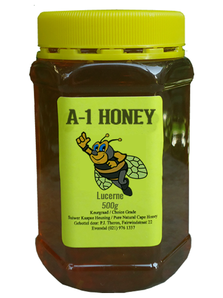 500 Gram Raw Lucerne Natural Cape Honey For Sale in South Africa - Plastic Bottled - A-1 Honey