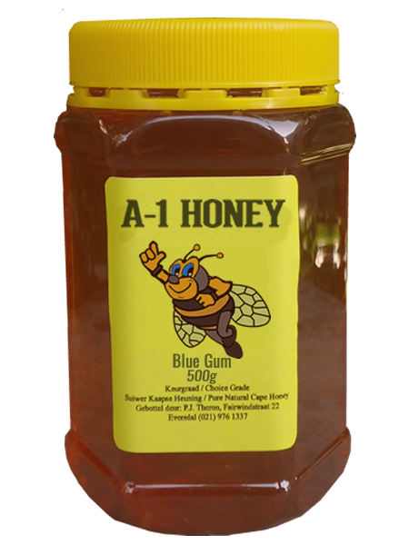 500 Gram Raw Blue Gum Cape Honey for sale in South africa (Plastic Bottled) - A-1 Honey