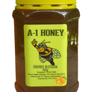 500 Gram Raw Orange Blossom Natural Cape Honey For Sale in South Africa - Plastic Bottled - A-1 Honey