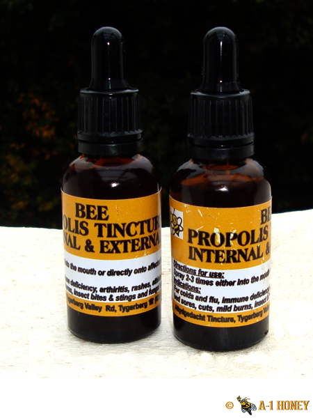 Bee Propolis is a red or brown resinous substance collected by honeybees from tree buds, used by them to fill crevices and to seal and varnish honeycombs. Used for its medicinal purposes. Specifically, Propolis contains the Polyphemus called Flavonoids. Flavonoids are produced in plants as a form of protection. They're commonly found in foods thought to have antioxidant properties, such as in fruits, green tea, vegetables and red wine. Traditionally used for Arthritis, Flu, immunity deficiency, skin conditions, cuts, insect bites, fungus, warts, chest disorders and toothache. Take 8 drops with water, 3 times a day.
